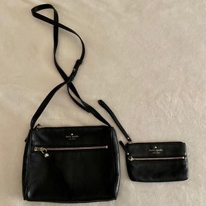Black Kate Spade crossbody with coin purse
